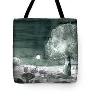 Full Moon Olive Tree  Tote Bag