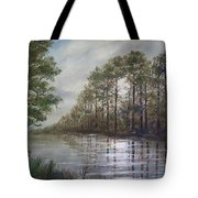 Full Moon On The River Tote Bag