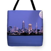 Full Moon Over Cleveland Tote Bag