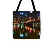 Full Moon Over Pittsburgh Tote Bag