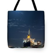 Full Moon Over Queen Mary Tote Bag
