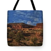 Full Moon Over Red Cliffs Tote Bag