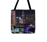 Full Moon Over The Canal Tote Bag
