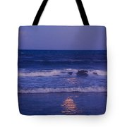Full Moon Over The Ocean Tote Bag