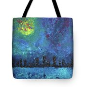 Full Moon Over Watercity Tote Bag