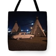 Full Moon Over Wigwam Motel Tote Bag