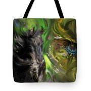 Full Moon Totems Tote Bag