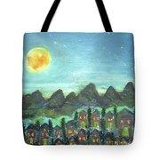 Full Moon Village Tote Bag