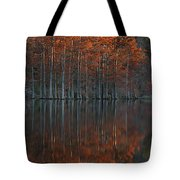 Full Of Glory - Cypress Trees In Autumn Tote Bag