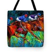 Full Speed Tote Bag by Debra Hurd