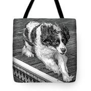 Full Tilt - English Springer Spaniel Bw Tote Bag