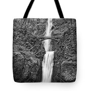 Full View Of Multnomah Falls Tote Bag