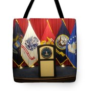 Full View Swearing In Flags Tote Bag