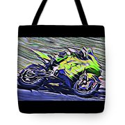Fullspeed On Two Wheels 8 Tote Bag