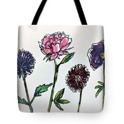 Four Flowers  Tote Bag