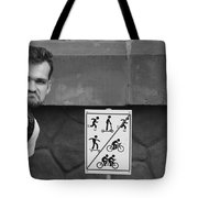 Fun Forbidden Here Tote Bag