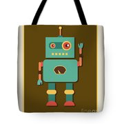 Fun Retro Robot Tote Bag