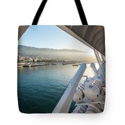 Funchal By The Ship Tote Bag