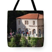 Funicular De Sant Joan Monserratt Tote Bag