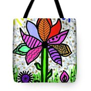 Funky Flower Mod Pop Tote Bag