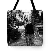 Funky Singer Tote Bag