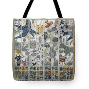 Funky/thought-provoking Public Art, Dk Tote Bag