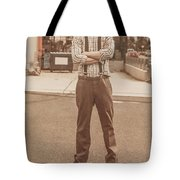 Funny Anchorman On Tv Tote Bag