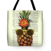 Funny And Cute Pineapple Art Tote Bag