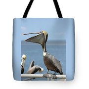 Funny Brown Pelican Tote Bag