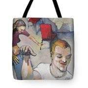 Funny Couple Tote Bag