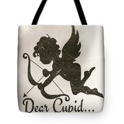 Funny Cupid Art - Vintage Love Quotes Art Typography Tote Bag