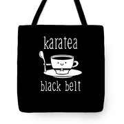 Funny Karate Design Karatea Black Belt White Light Tote Bag