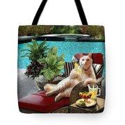 Funny Pet  Vacationing Kitty Tote Bag