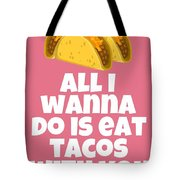 Funny Tacos Valentine - Cute Love Card - Valentine's Day Card - Eat Tacos With You - Taco Lover Gift Tote Bag