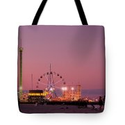 Funtown Pier At Sunset IIi - Jersey Shore Tote Bag by Angie Tirado
