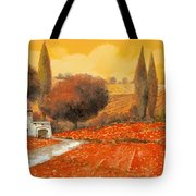 fuoco di Toscana Tote Bag by Guido Borelli