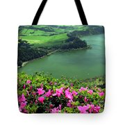 Furnas Lake Azores Tote Bag