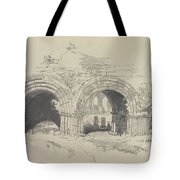 Furness Abbey East  29 August 1836 By Edward Lear  1836 Tote Bag