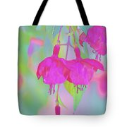 Fuchsia Flower Abstract Tote Bag