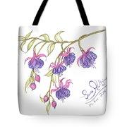 Fuschia Flowers Tote Bag