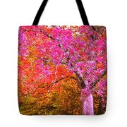 Fuschia Tree Tote Bag