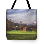 Fussen Mountain Scene Tote Bag