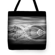 Futuristic Architecture Of Modern Valencia Spain In Black And Wh Tote Bag