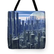 Futuristic City - 3d Render Tote Bag