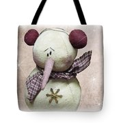 Fuzzy The Snowman Tote Bag
