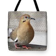 Fuzzy White Wing D Tote Bag