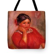 Gabrielle In A Red Blouse 1896 Tote Bag