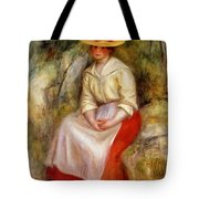 Gabrielle In A Straw Hat 1900 Tote Bag