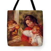 Gabrielle Jean And A Little Girl Tote Bag