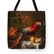 Gabriello Salci  Fruit Still Life With A Parrot Tote Bag